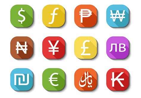 Free Currency Icons Vector - Download Free Vectors