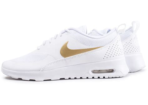 Nike Air Max Thea blanche et or - Chaussures Baskets femme