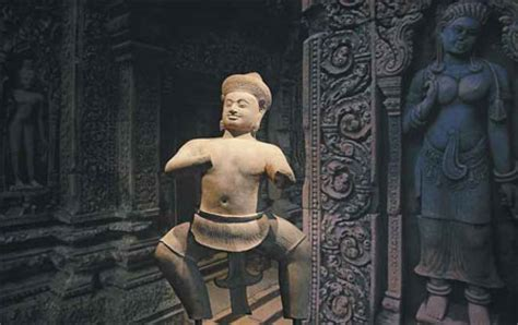 cambodia s statue of a temple wrestler titled bhima is on