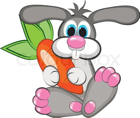 Year of the Rabbit - A happy rabbit with a giant carrot