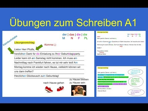 B1 Brief Schreiben | Cover Letter Sample for a Resume