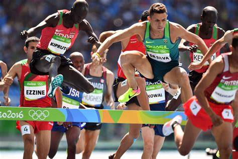 Olympic record falls in men's steeplechase event