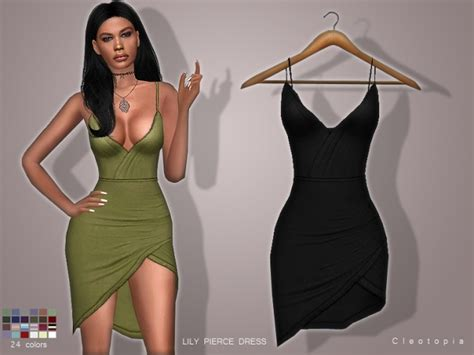 LILY PIERCE DRESS at Cleotopia » Sims 4 Updates