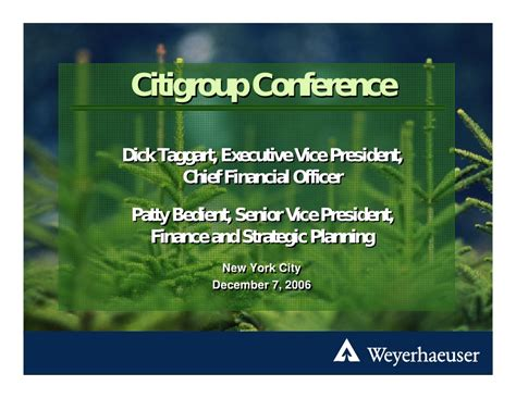 weyerhaeuser Citigroup 11th Annual Global Paper and Forest