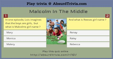 Trivia Quiz : Malcolm In The Middle