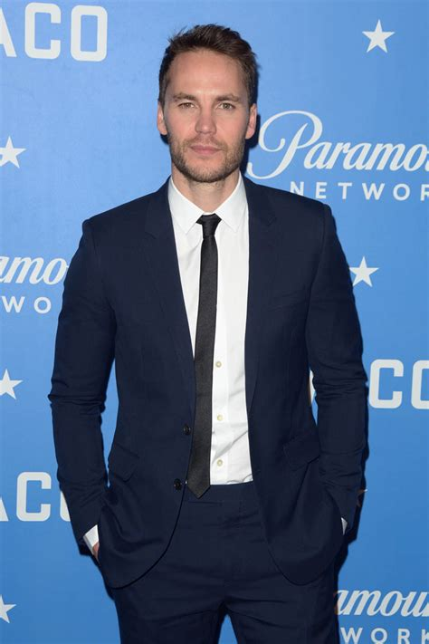Taylor Kitsch looks excited as he promotes Waco in New York