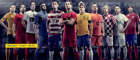 Maillots football kits Nike 2012 2013 flocage équipes