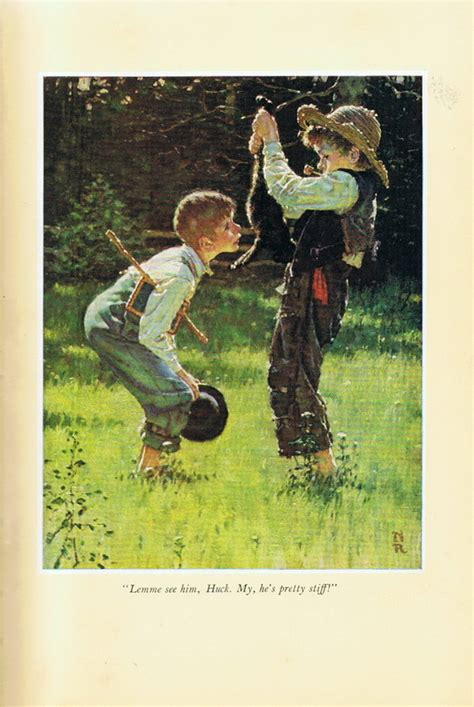 Norman Rockwell Ma Collection Tom Sawyer & Huckleberry Finn