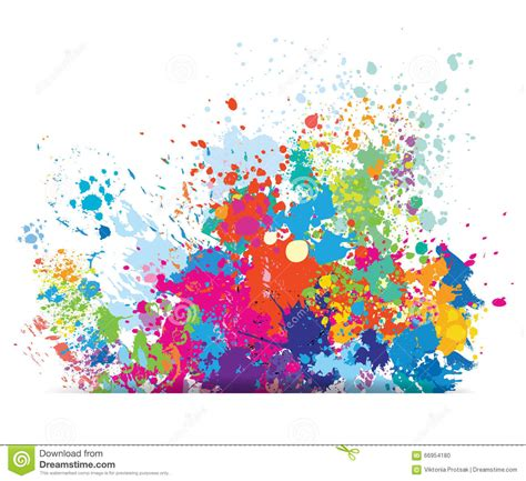 Color Background Of Paint Splashes Stock Vector - Image