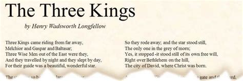 POEM: The Three Kings by Henry Wadsworth Longfellow