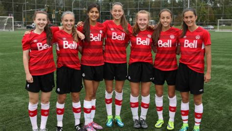 Seven Whitecaps FC Girls Elite REX players in camp with