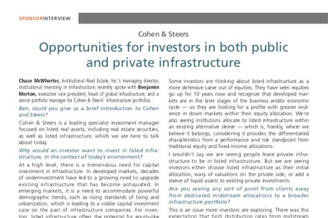 Opportunities for Investors in Both Public and Private