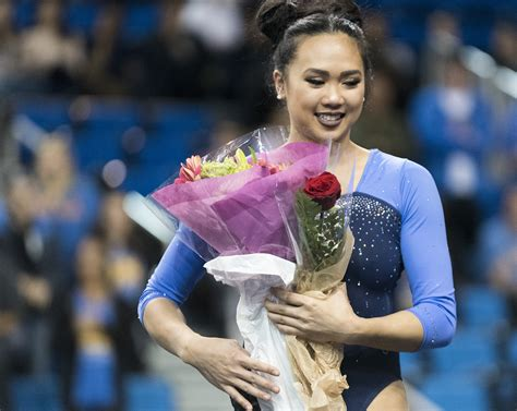Gymnastics finishes last home meet with highest score of