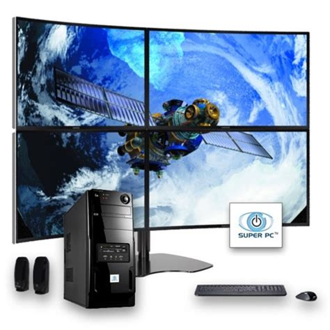 SUPER PC | Four Display Computer and Curved Quad Monitor