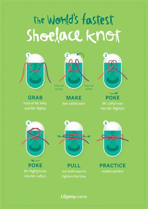 Learn how to tie the world's fastest shoelace knot