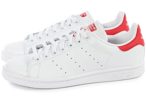 adidas Stan Smith Blanche et rouge - Chaussures Baskets